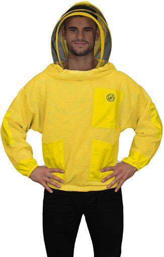 chamarra amarilla apicultura