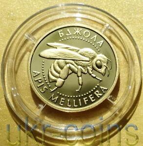 2010 Ucrania 1/25 OZ. 9999 oro moneda de prueba de Abeja Insecto sabiduría fauna silvestre