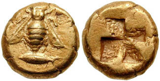 monedas de abejas misia antes de cristo