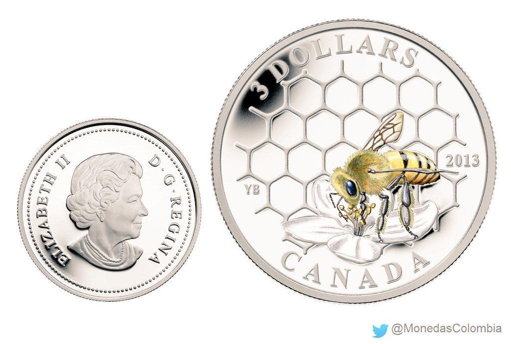 moneda de abeja canada 2013