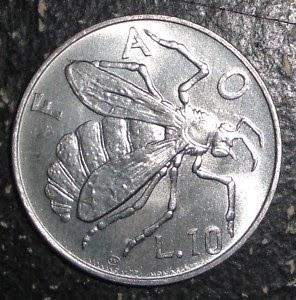 moneda de abeja